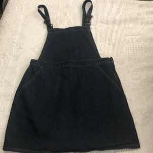WOMENS DENIM OVERALL DRESS MEDIUM